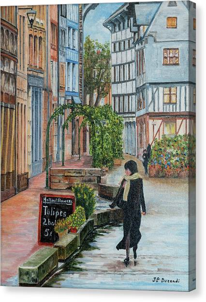 La Femme Aux Tulipes Canvas Print
