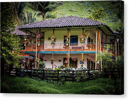 La Finca De Cafe - The Coffee Farm Canvas Print