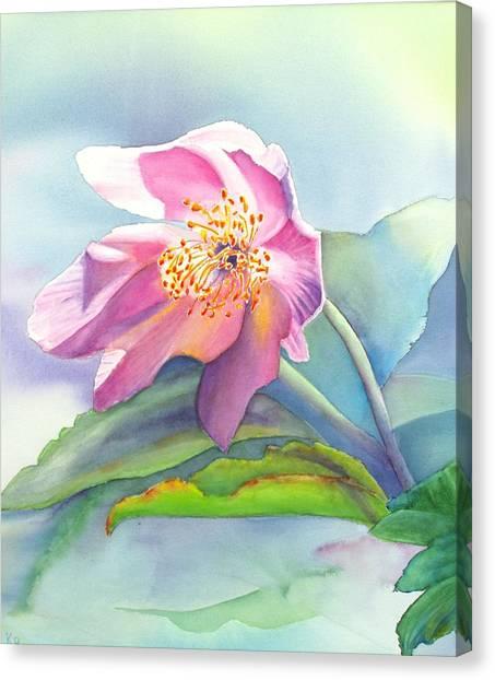 La Fleur Rose Canvas Print