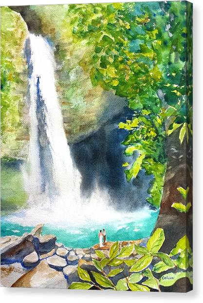 La Fortuna Waterfall Canvas Print