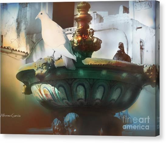 La Fuente De Ayamonte Canvas Print by Alfonso Garcia