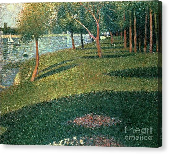 Pointillism Canvas Print - La Grande Jatte by Georges Pierre Seurat