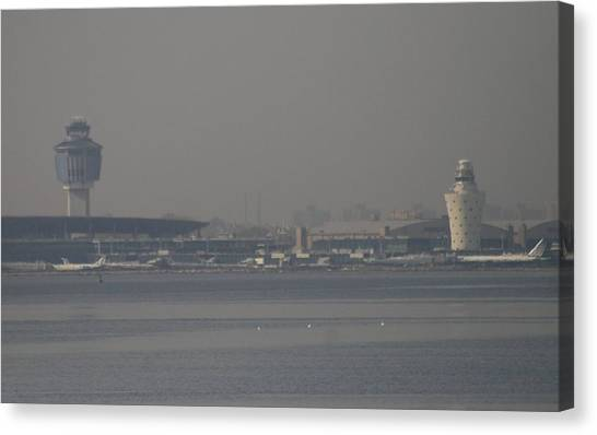 Air Traffic Control Canvas Print - La Guardia From The Bronx by Christopher Kirby