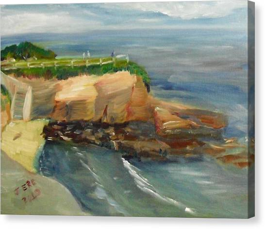 La Jolla Cove Stairway Number 1 Canvas Print