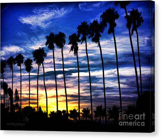 La Jolla Silhouette - Digital Painting Canvas Print