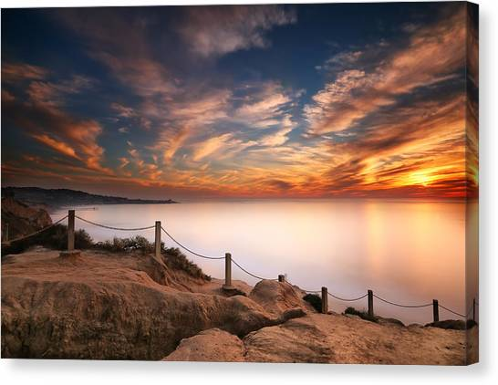 Sun Canvas Print - La Jolla Sunset by Larry Marshall
