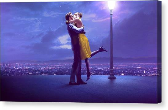 Trampoline Canvas Print - La La Land by Maye Loeser