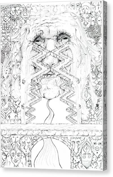 La Llorona Sombra De Arreguin Canvas Print