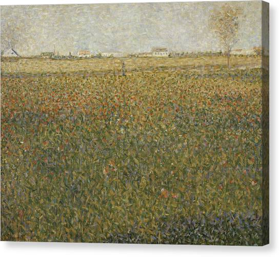 Post-impressionism Canvas Print - La Luzerne Saint Denis  by Georges-Pierre Seurat