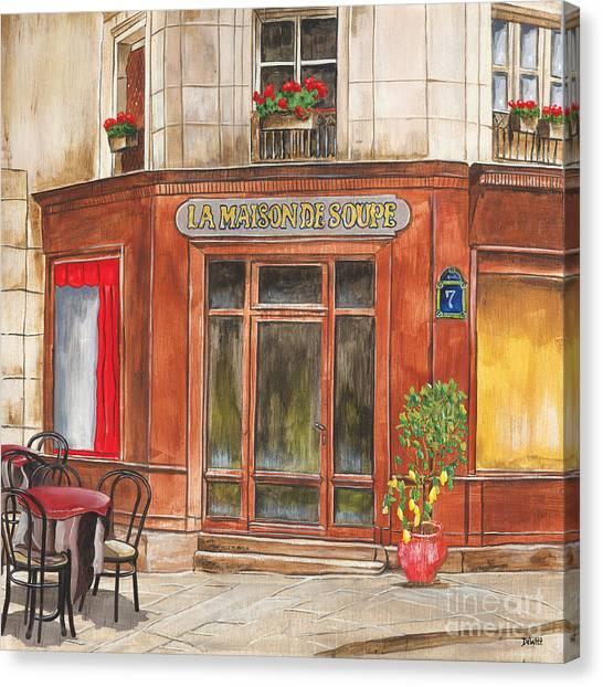 Cafes Canvas Print - La Maison De Soupe by Debbie DeWitt