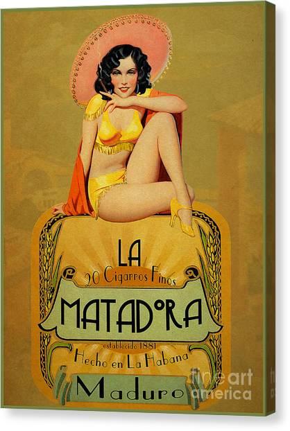 Pinup Canvas Print - la Matadora by Cinema Photography