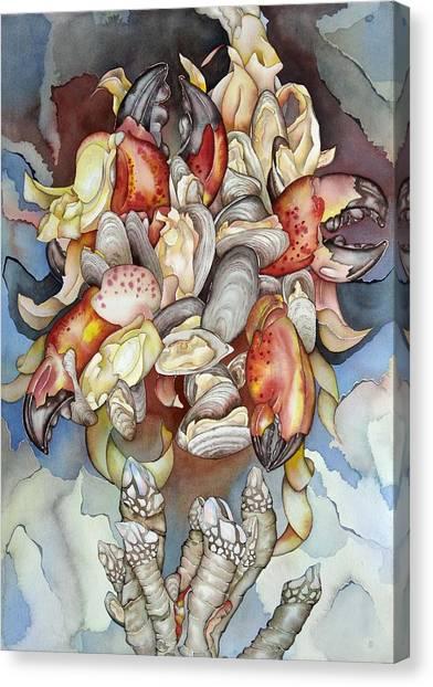 La Mer En Rouge Canvas Print by Liduine Bekman