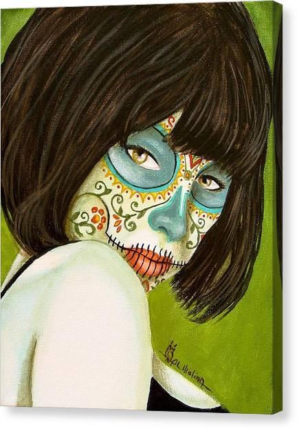 La Muerte En Verde Canvas Print