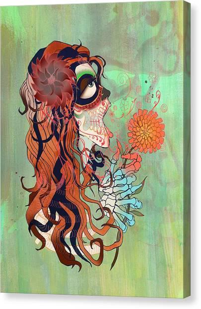 Canvas Print - La Muerte by Kate Collins