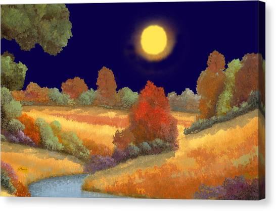 Night Canvas Print - La Musica Della Notte by Guido Borelli