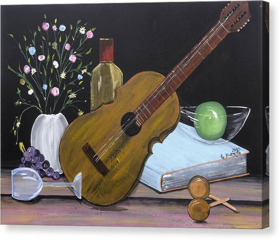 La Musica Por Dentro Canvas Print