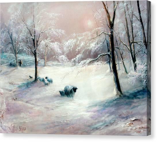 La Neige Canvas Print by Sally Seago