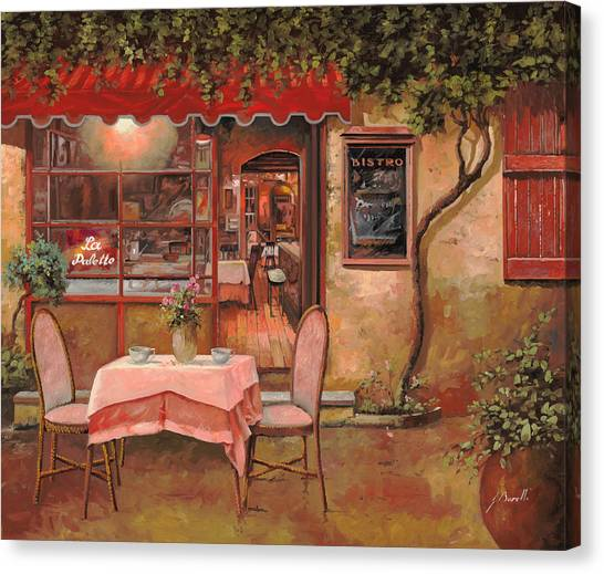 Cafes Canvas Print - La Palette by Guido Borelli