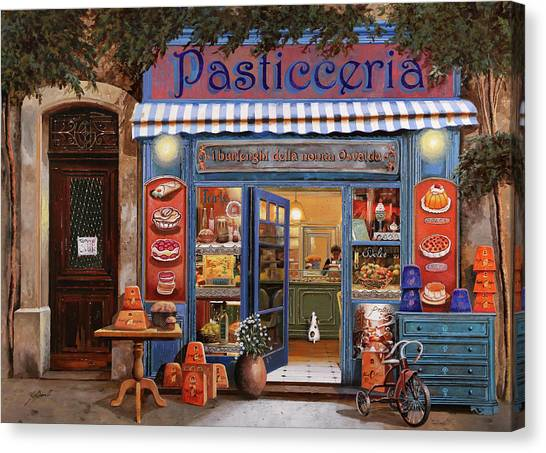 Cakes Canvas Print - La Pasticceria by Guido Borelli