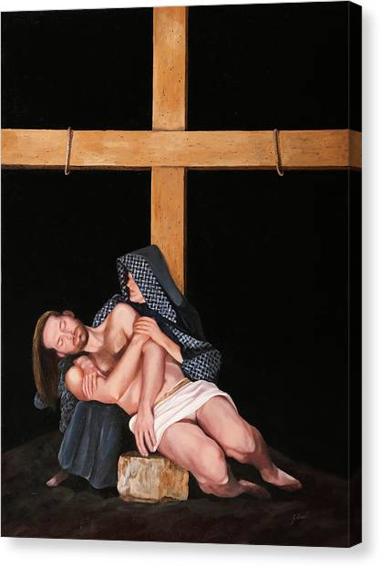 Catholic Canvas Print - La Pieta by Guido Borelli