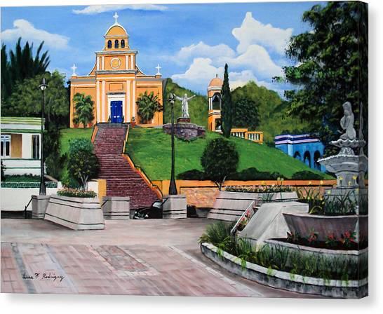 La Plaza De Moca Canvas Print