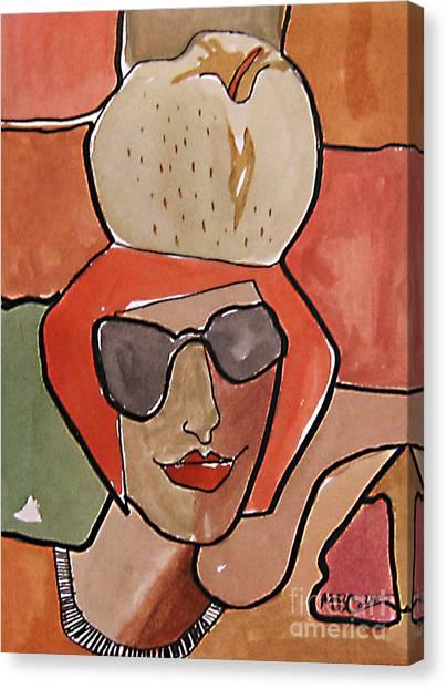 La Pomme Canvas Print