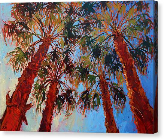 Spring Trees Canvas Print - La Quinta Palms by Erin Hanson