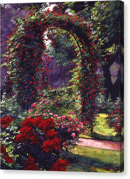 Arbor Canvas Print - La Rosaeraie De Bagatelle by David Lloyd Glover