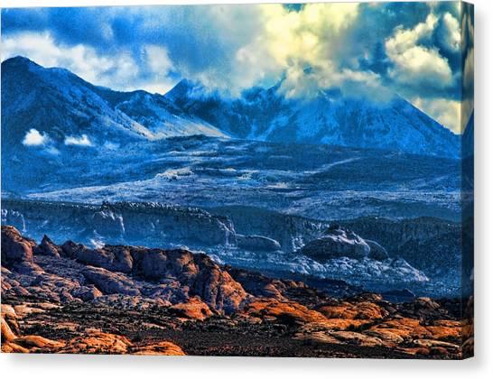 La Sal Mountains Arches National Park Canvas Print