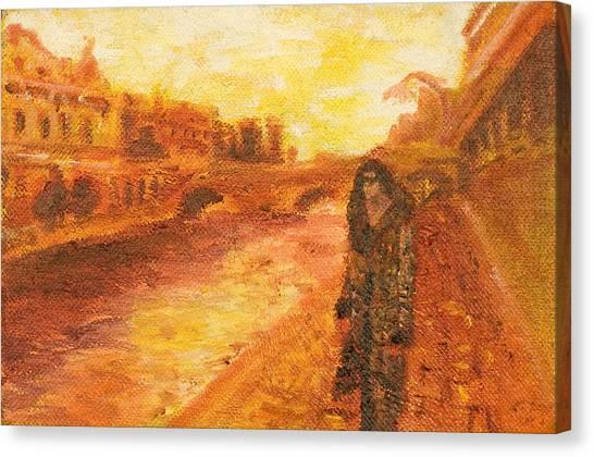 La Seine Canvas Print by LB Zaftig