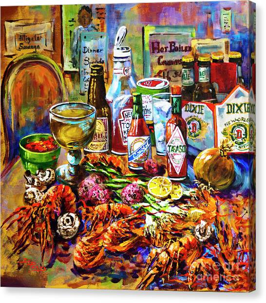 Seafood Canvas Print - La Table De Fruits De Mer by Dianne Parks