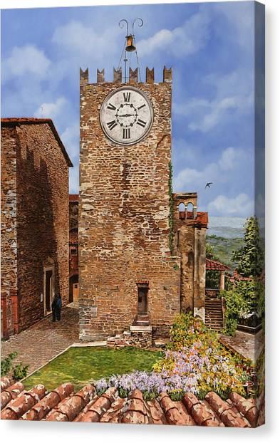 Swallows Canvas Print - La Torre Del Carmine-montecatini Terme-tuscany by Guido Borelli