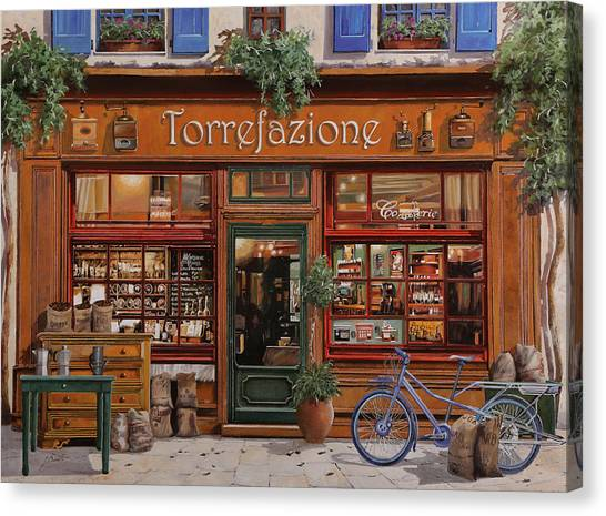 Coffee Shops Canvas Print - La Torrefazione by Guido Borelli