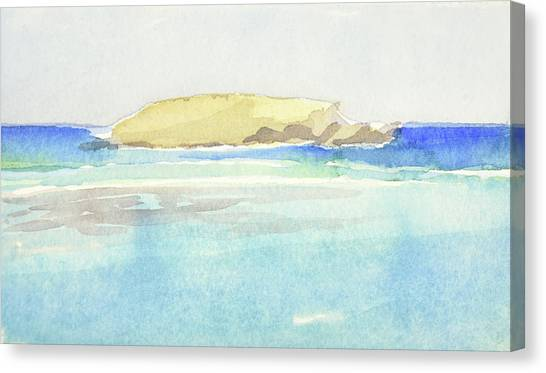 La Tortue, St Barthelemy, 1996 100x60 Cm Canvas Print