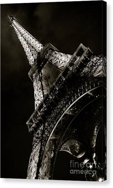 La Tour A Nuit Canvas Print by Louise Fahy
