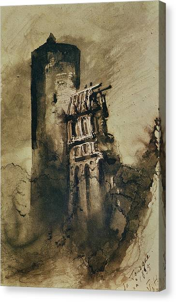 Shrouds Canvas Print - La Tourgue In 1835 by Victor Hugo
