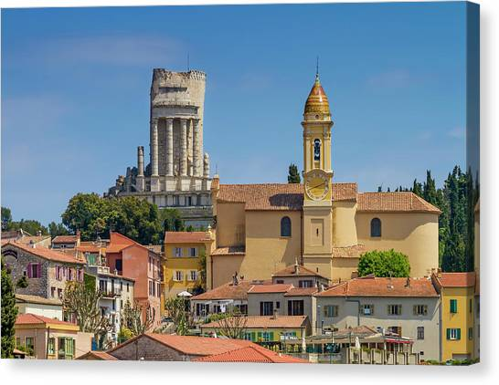 Southern France Canvas Print - La Turbie Lovely Village In Southern France by Melanie Viola