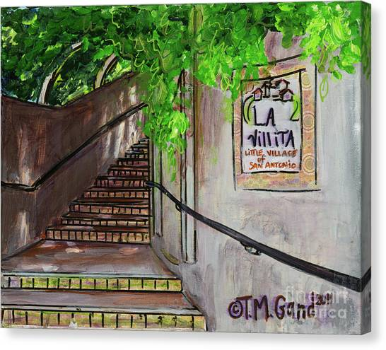 Canvas Print featuring the painting La Villita by TM Gand