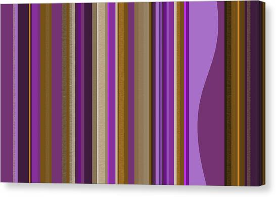 Large Purple Abstract - Two Canvas Print