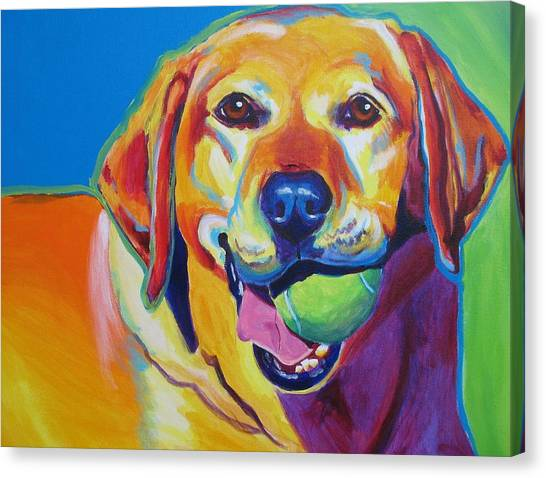 Tennis Ball Canvas Print - Lab - Bud by Alicia VanNoy Call