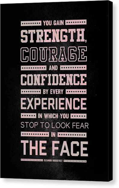 Arnold Schwarzenegger Canvas Print - Lab N. 4 Strength Does Not Come Arnold Schwarzenegger Motivational Quote by Lab No 4 The Quotography Department