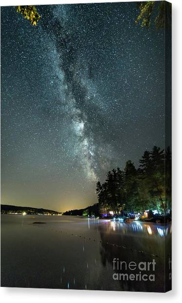 Labor Day Milky Way In Vacationland Canvas Print