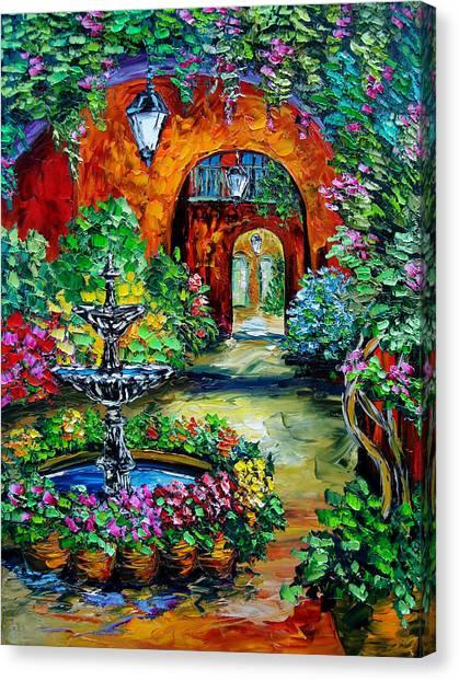 Labyrinth Of Arches Canvas Print by Beata Sasik