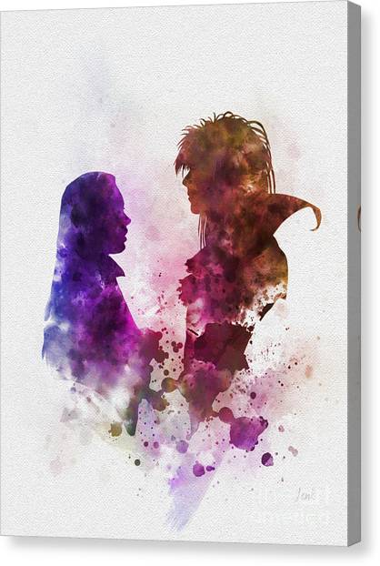 David Bowie Canvas Print - Labyrinth by Rebecca Jenkins