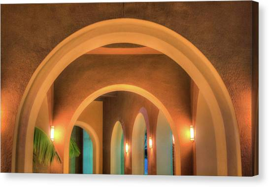 Canvas Print featuring the photograph Labyrinthian Arches by T Brian Jones
