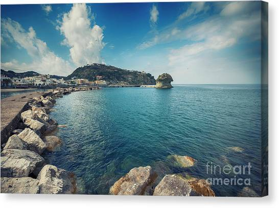 Lacco Ameno Harbour ,  Ischia Island Canvas Print