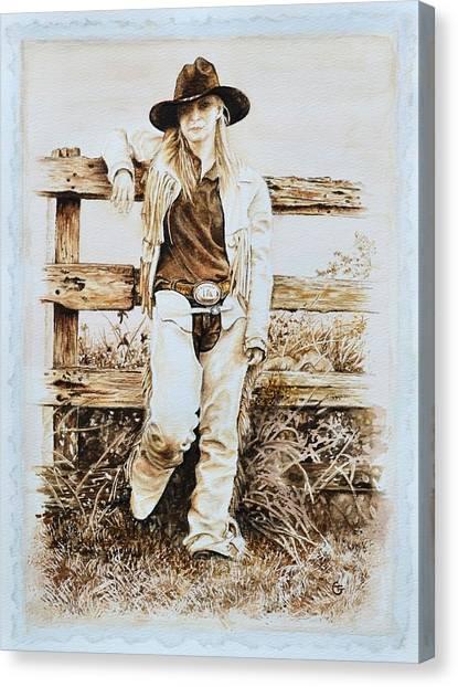 Ranch Dressing Canvas Print - Lace And Latigo by Traci Goebel