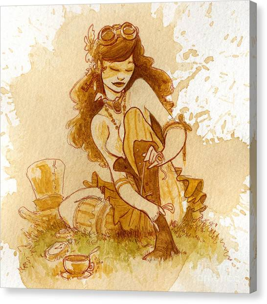Steampunk Canvas Print - Laces by Brian Kesinger
