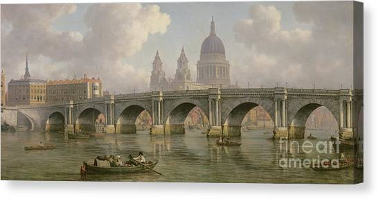 Marlow Canvas Print - Blackfriars Bridge And St Paul's Cathedral by William Marlow