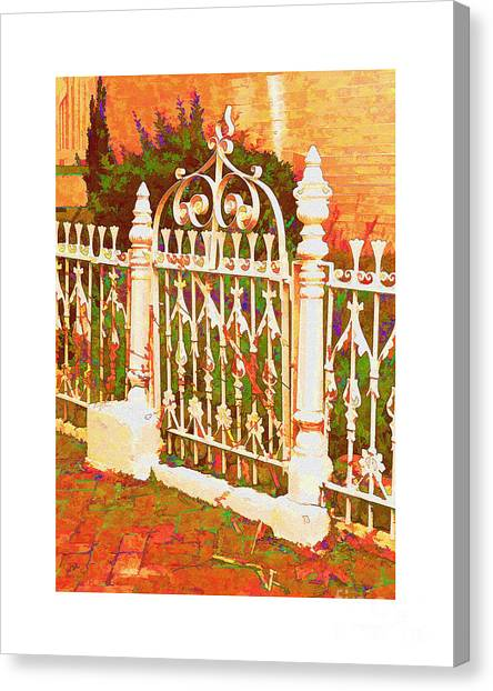 Lacy Garden Gate Canvas Print